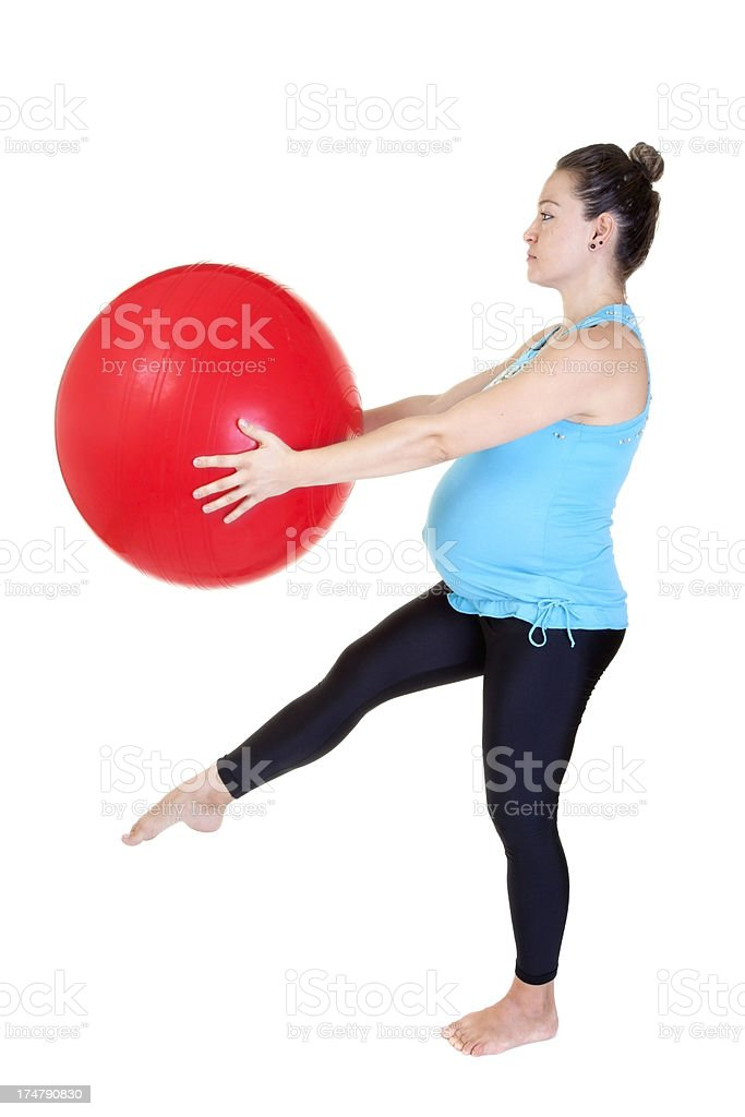 pregnant woman doing exercises royalty-free stock photo