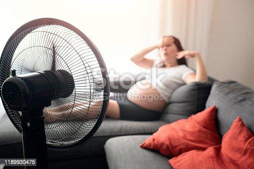 Pregnant woman feeling bad for summer heat