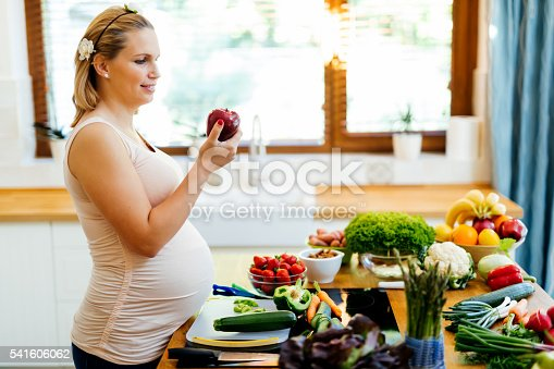 istock Pregnant woman healthy diet 541606062