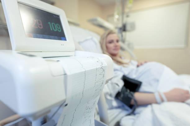 Schwangere Frau im Krankenhaus – Foto