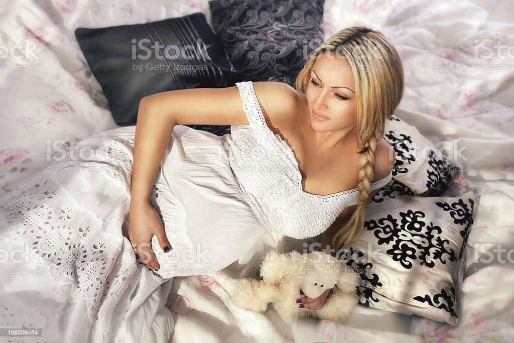 임신한 여성의 내륙발 royalty-free 스톡 사진