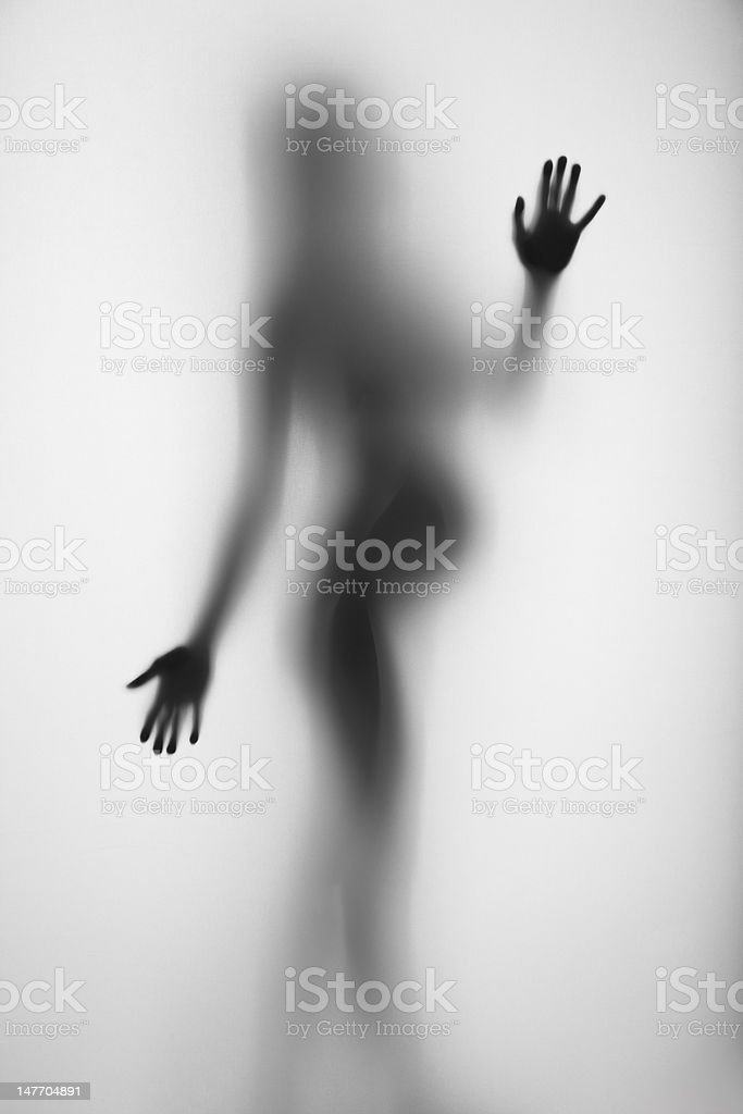 Pregnant woman silhouette royalty-free stock photo