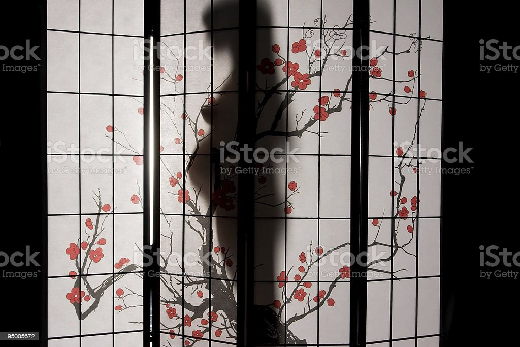 Pregnant woman silhouette royalty-free stock photo