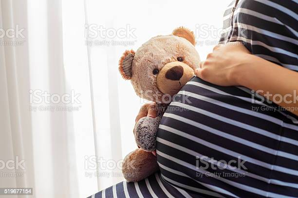 Pregnant woman sitting and holding teddy bear toy picture id519677154?b=1&k=6&m=519677154&s=612x612&h=qej7h5 y5 ppkifvvrgyw7bkiyu5 n ss0v39o63qj8=