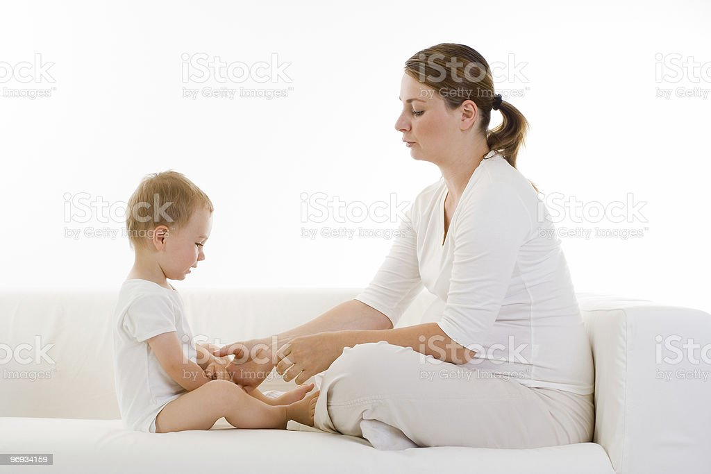 Pregnant woman with child royalty-free stock photo