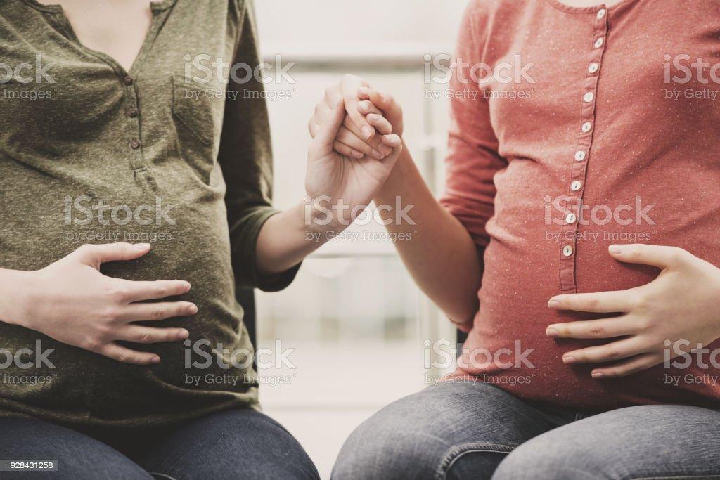 Pregnant women stock photo