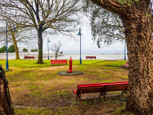 Preguntoiro park stock photo