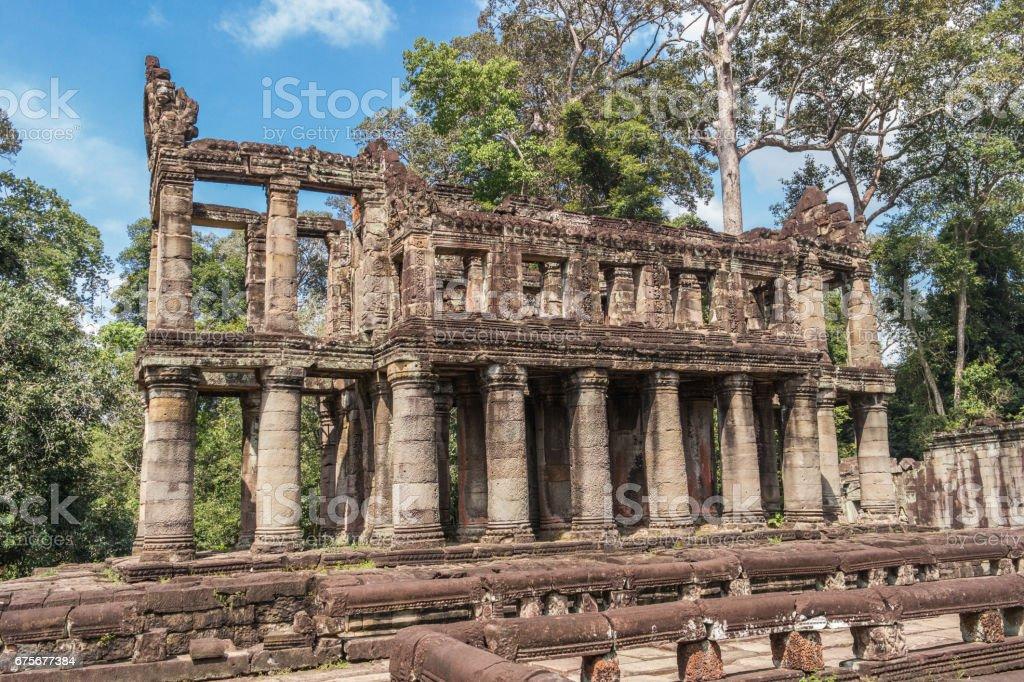 Temple de Preh Khan, Siem Reap, Cambodge photo libre de droits