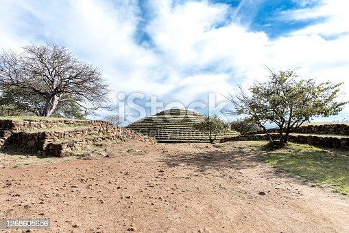 Los Guachimontones prehispanic archaeological site in Teuchitlán, Jalisco, Mexico close to Guadalajara
