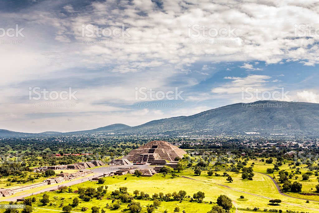 Pre-Hispanic City of Teotihuacan. Mexico stock photo