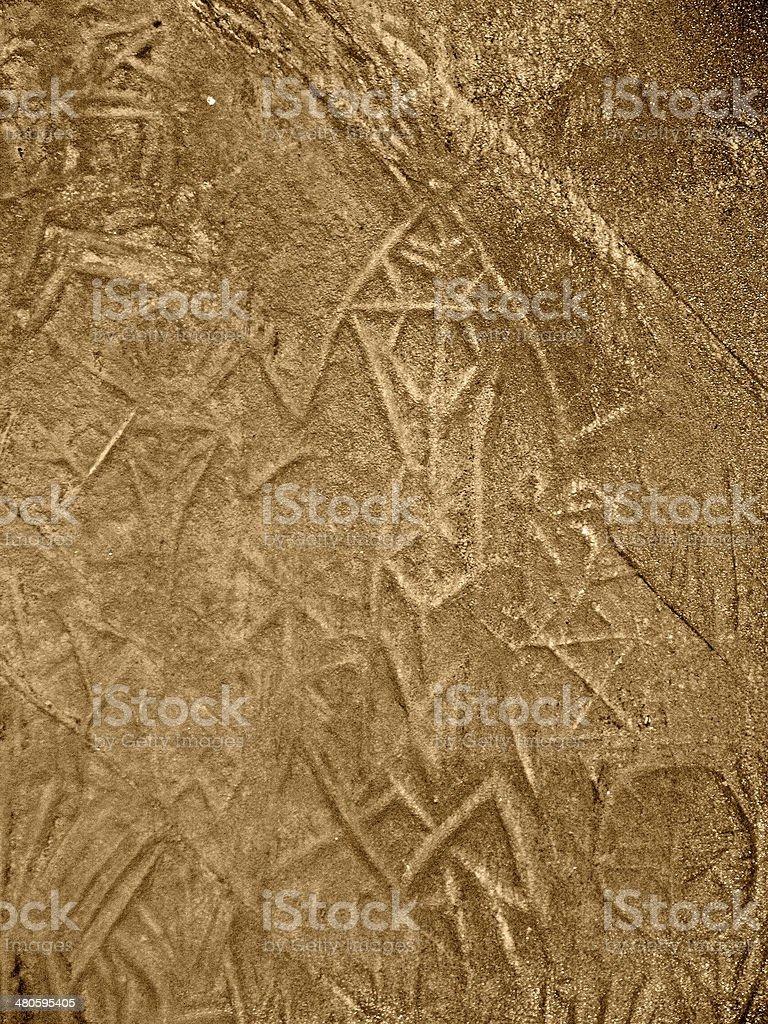 prehistoric art, Edakkal Cave, Ambukutty Mala near Ambalavayal, royalty-free stock photo