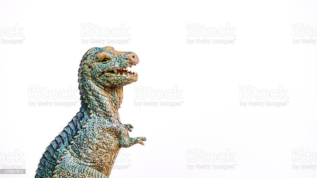 jurassic pré-histórico de dinossauros chamado allosaurius, em fundo branco - foto de acervo