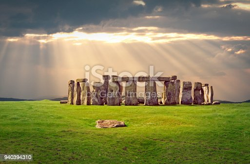 Fantastic view over Stonehenge in England -aerial photography
