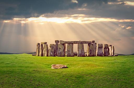 Prehistoric monument Stonehenge located in Wiltshire, England