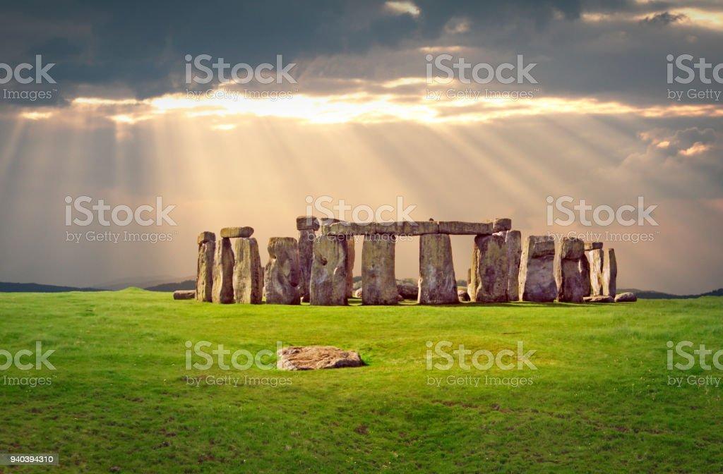Tarih öncesi anıt Stonehenge stok fotoğrafı