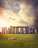 Prehistoric monument Stonehenge located in Wiltshire, England