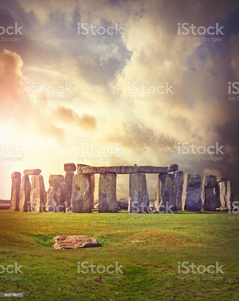 Prehistoric monument Stonehenge stock photo