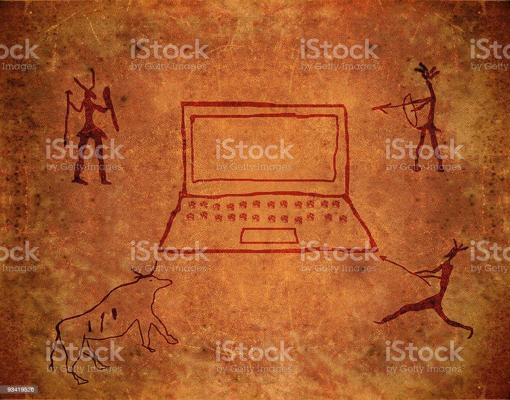 prehistoric paint stock photo