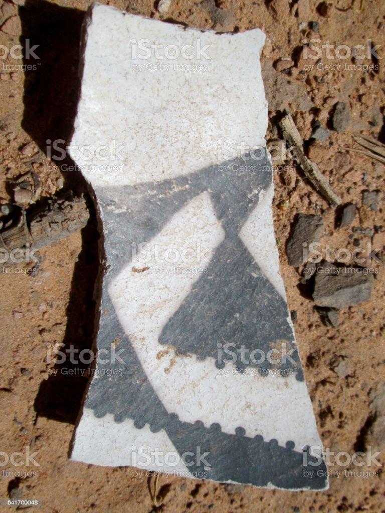 Prehistoric Pottery Fragment stock photo