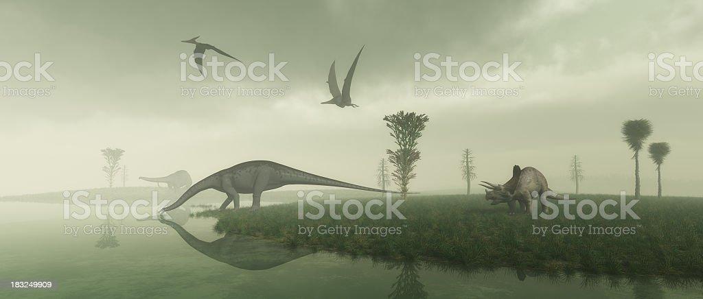Prehistoric Scene royalty-free stock photo