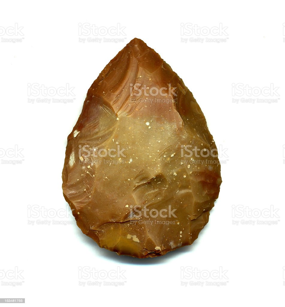 prehistorical tool stock photo