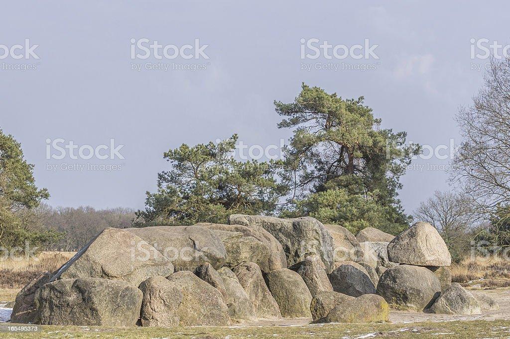 Prehistorically old stone grave. royalty-free stock photo