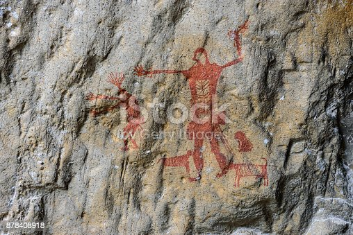 istock Pre-history painting. 878408918