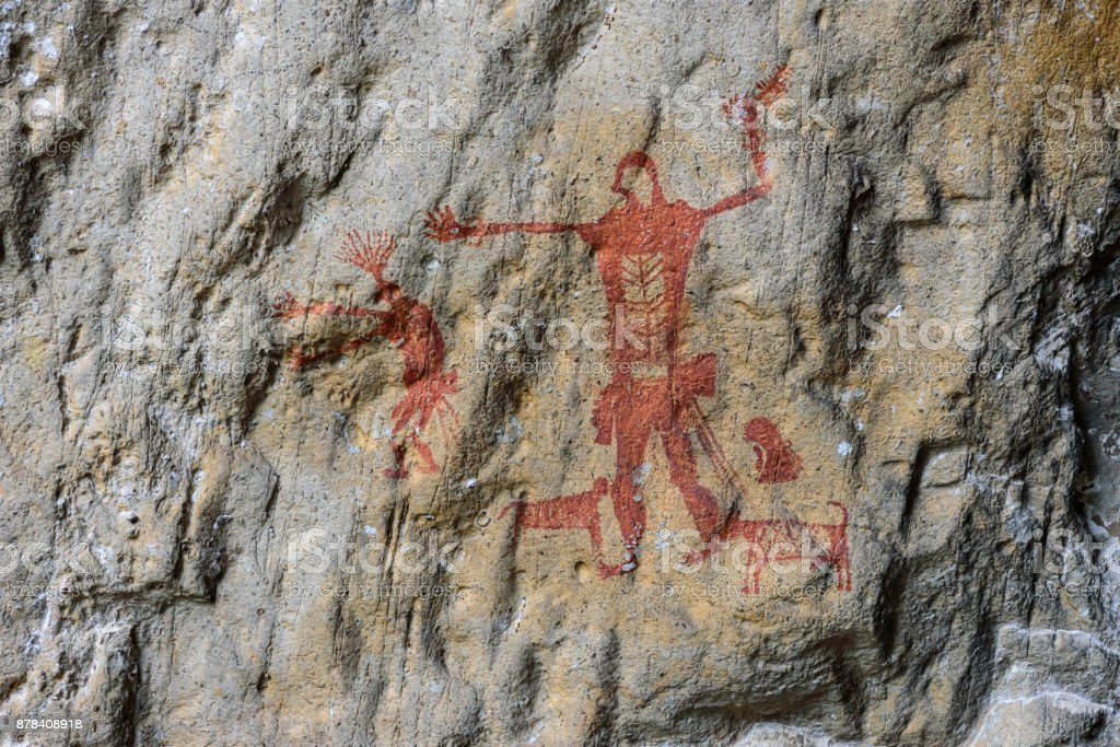 Pre-history painting. stock photo