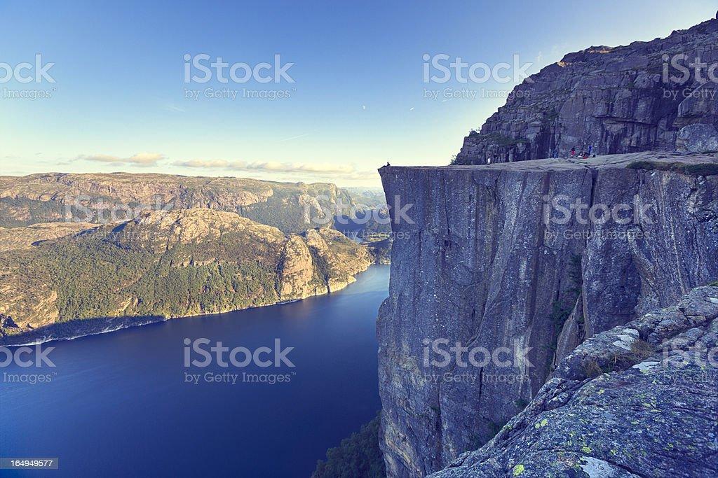 Preikestolen, Norway stock photo