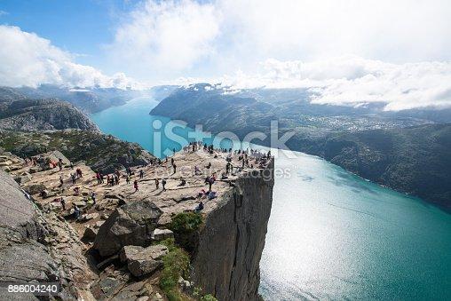 Preikestolen or Pulpit rock, Norway
