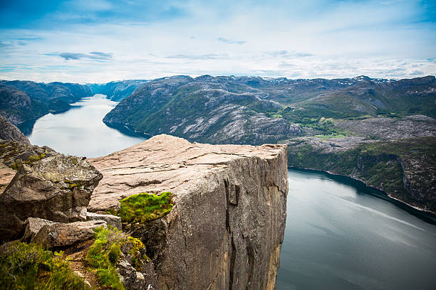 preikestolen or prekestolen - cliff stock pictures, royalty-free photos & images
