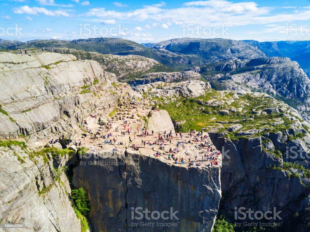 Preikestolen or Pulpit Rock stock photo