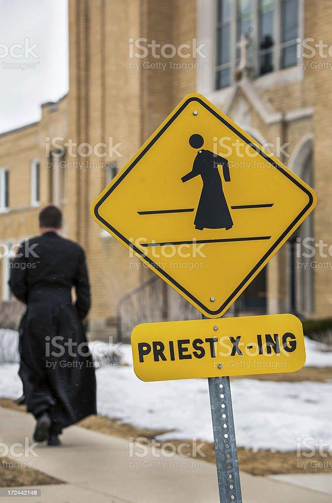 preist crossing royalty-free stock photo