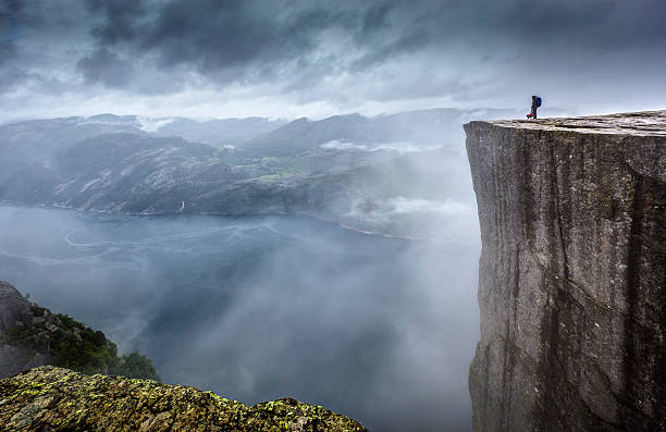 prekestolen - cliff stock pictures, royalty-free photos & images