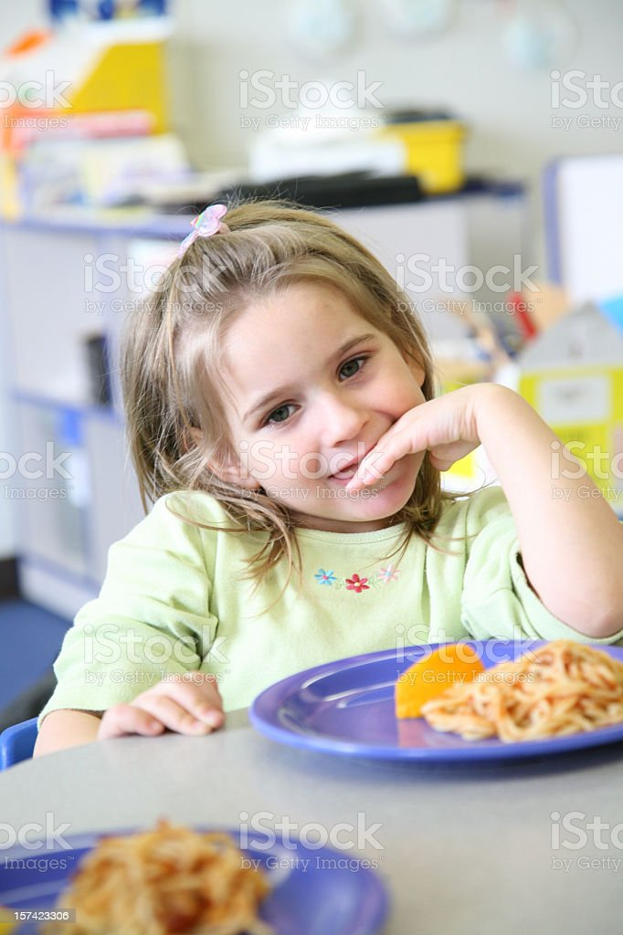 pre-kindergarten lunch royalty-free stock photo