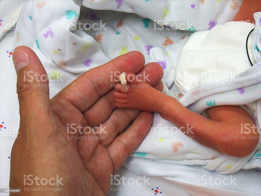 Frühgeburt kleine Füße – Foto