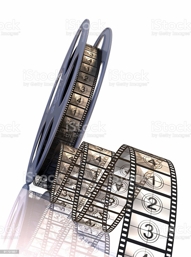 Premiere! 3d illustration of  Filmstrip. stock photo
