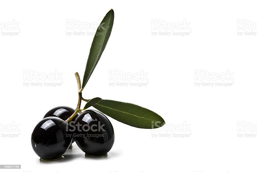 Premium azeitonas pretas - foto de acervo