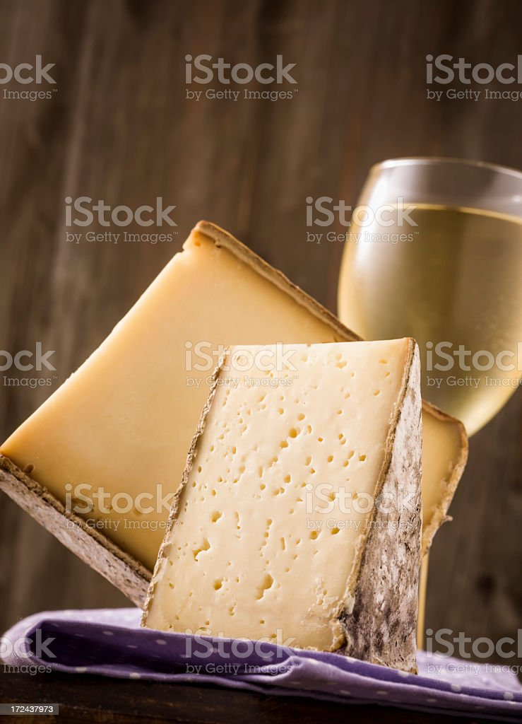 Premium Cheese and Wine royalty-free stock photo