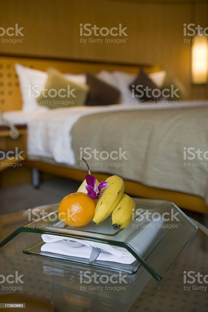 Premium hotel room service amenity royalty-free stock photo
