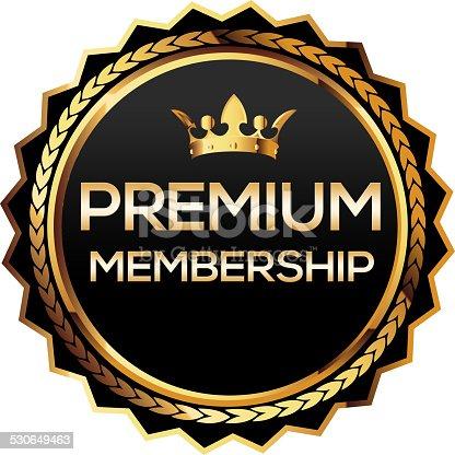 istock Premium membership gold badge 530649463