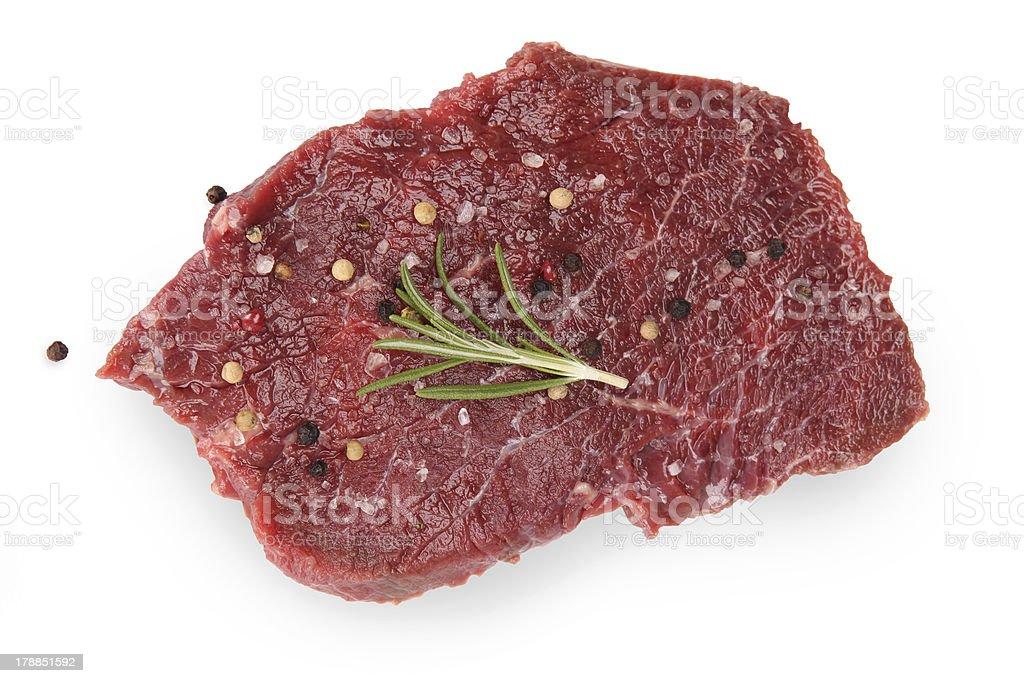 Premium Raw beef sirloin royalty-free stock photo