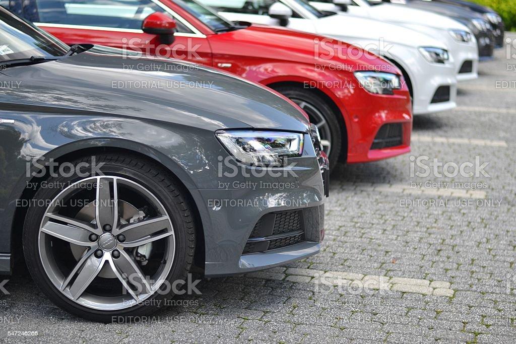 Premium vehicles on the parking foto