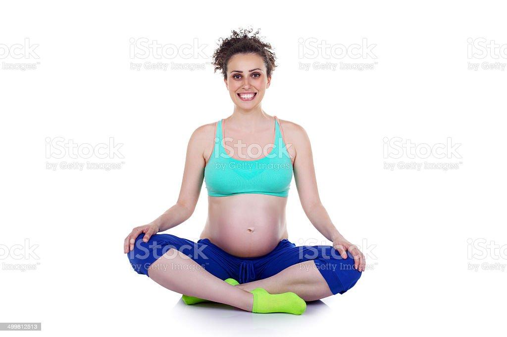 prenatal exercies stock photo