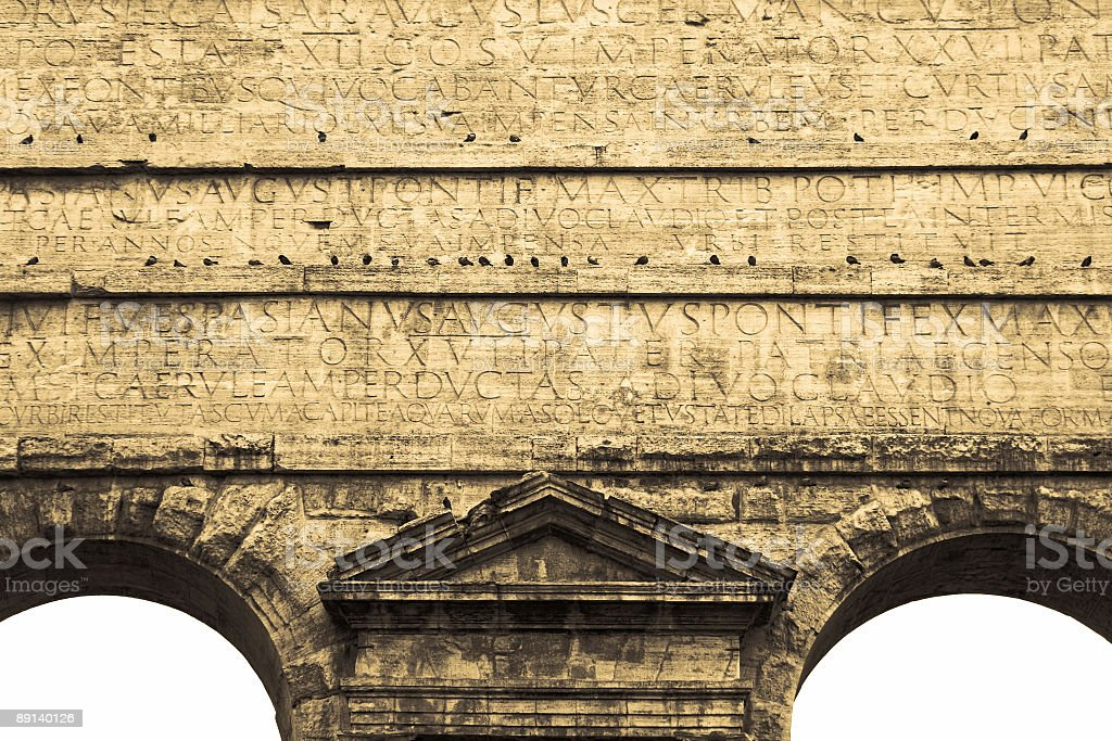 Porta Prenestina Rome Aqueduct royalty-free stock photo