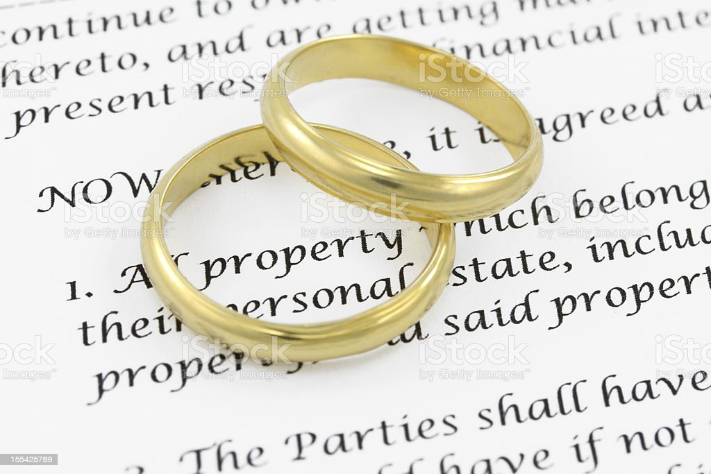 Prenuptial ( premarital ) agreement royalty-free stock photo