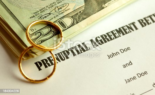 shot of prenuptial form