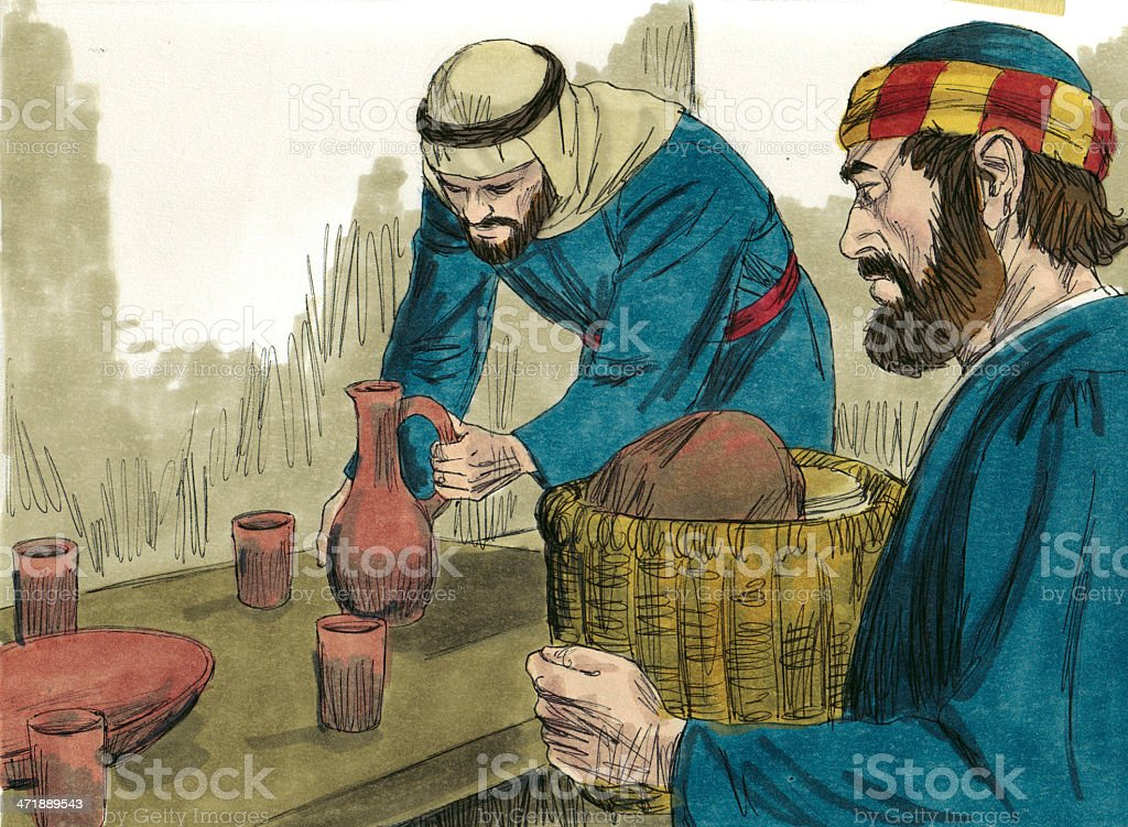 Prep for Passover Meal royalty-free stock photo