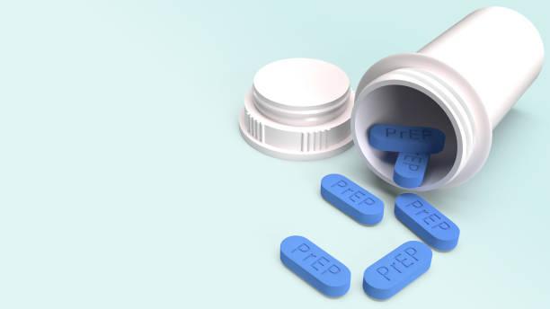 prep ist hiv-prävention pille für medizinisches konzept 3d rendering. - aids stock-fotos und bilder