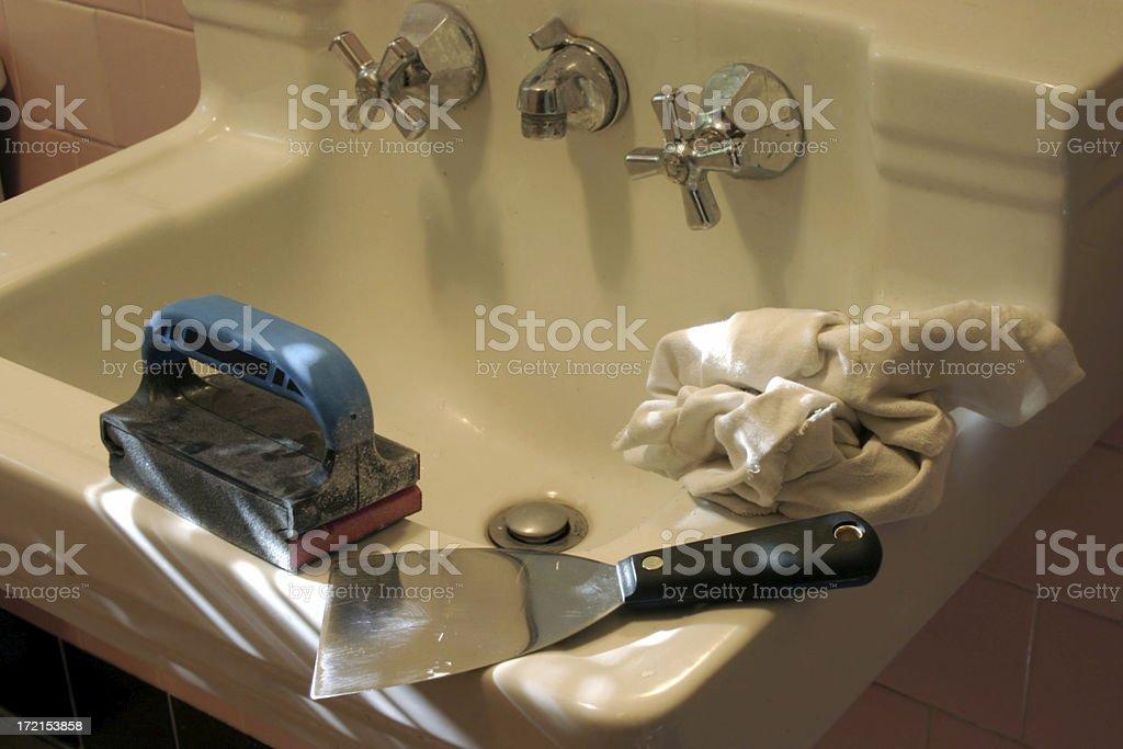 Prep to Paint Bathroom royalty-free stock photo